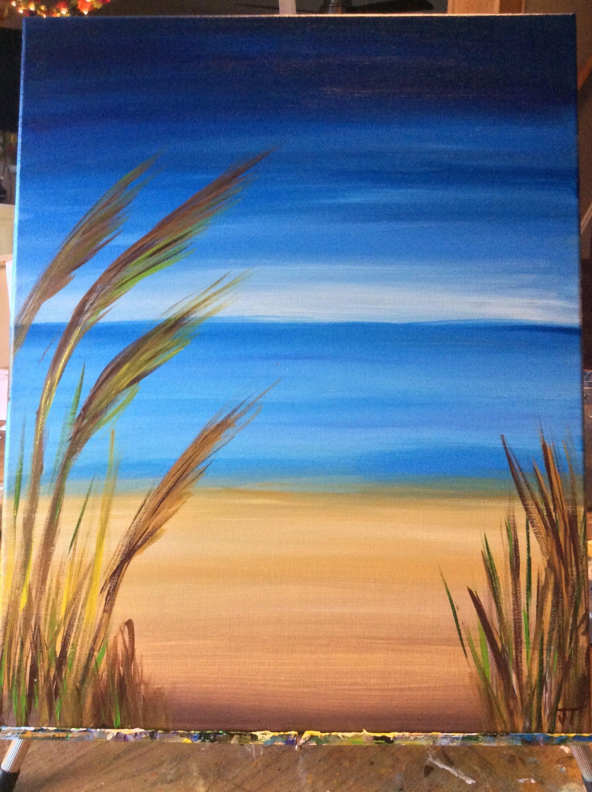 beach scene janets art planet